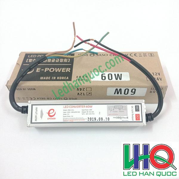 Nguồn đèn LED hàn Quốc 12V-5A-60W