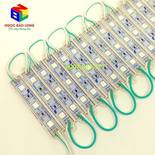 LED hắt Module 3 bóng 5054 dài màu xanh lá