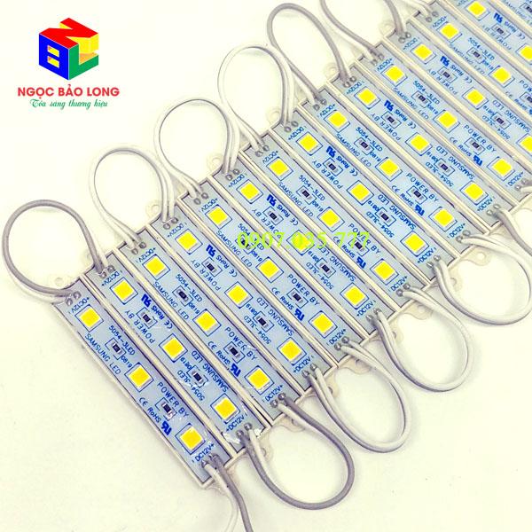 LED hắt Module 3 bóng 5054 dài màu vàng đậm hay còn gọi là màu vàng chùa